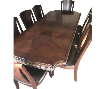 Raymour & Flanigan Solid Wood 9 Piece Dining Set