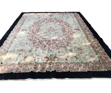 Vintage 1930's Chinese Wool Carpet