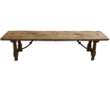 Wood Bench/Coffee Table