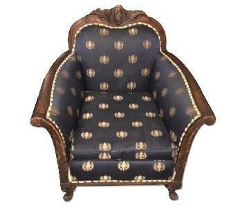 Antique Upholstered Club Chair