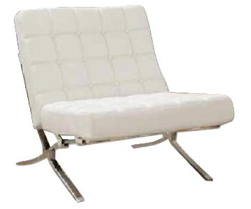 Global Furniture White Accent Chair