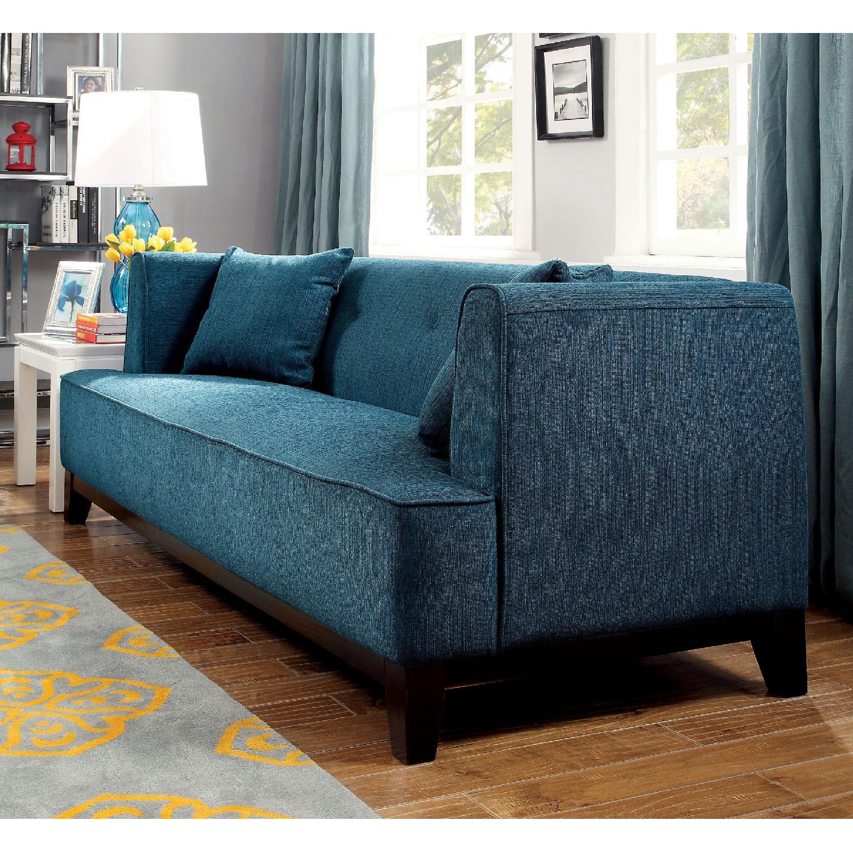 Furniture of America Sofia Teal Sofa-1