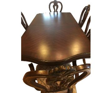 Huffman Koos Dining Table w/ 5 Chairs + China Cabinet