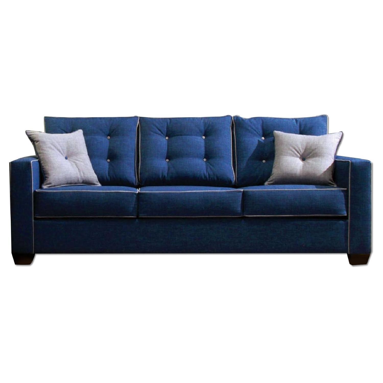 Furniture of America Ravel Blue Sofa