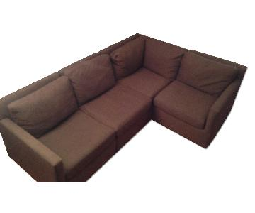 Crate & Barrel 4 Piece Sectional Sofa