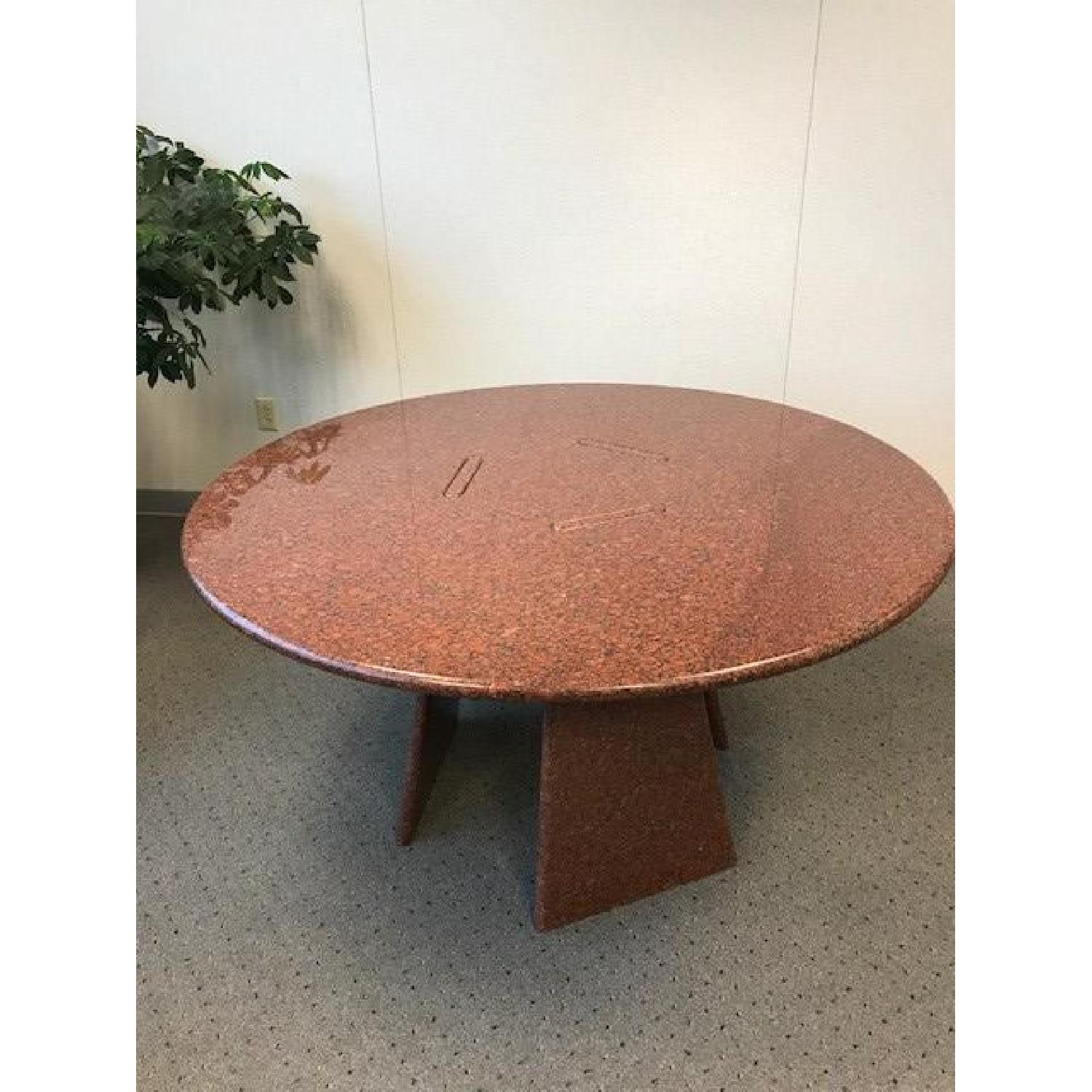 Angelo Mangiarotti Big Asolo Dining Table in a Red Granite