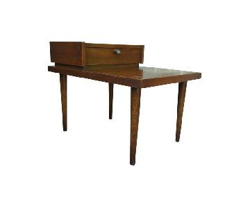 American of Martinsville Walnut Step End Table
