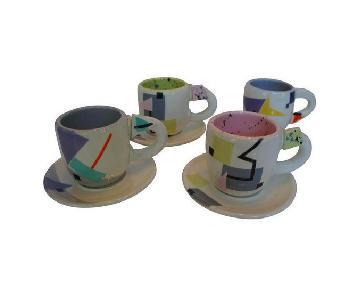 Rita Duvall Memphis Style Art Pottery Tea Set