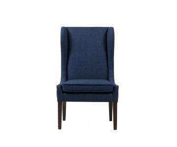 Captain's Indigo Wingback Chairs