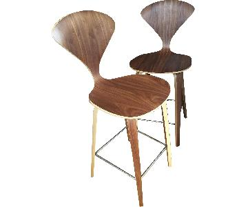 Sit Down New York Walnut Bar Counter Stools