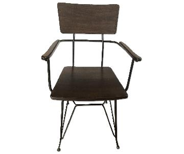 Crate & Barrel Elston Dining Arm Chair