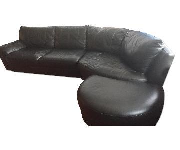 Ikea Modern Leather Sectional Sofa