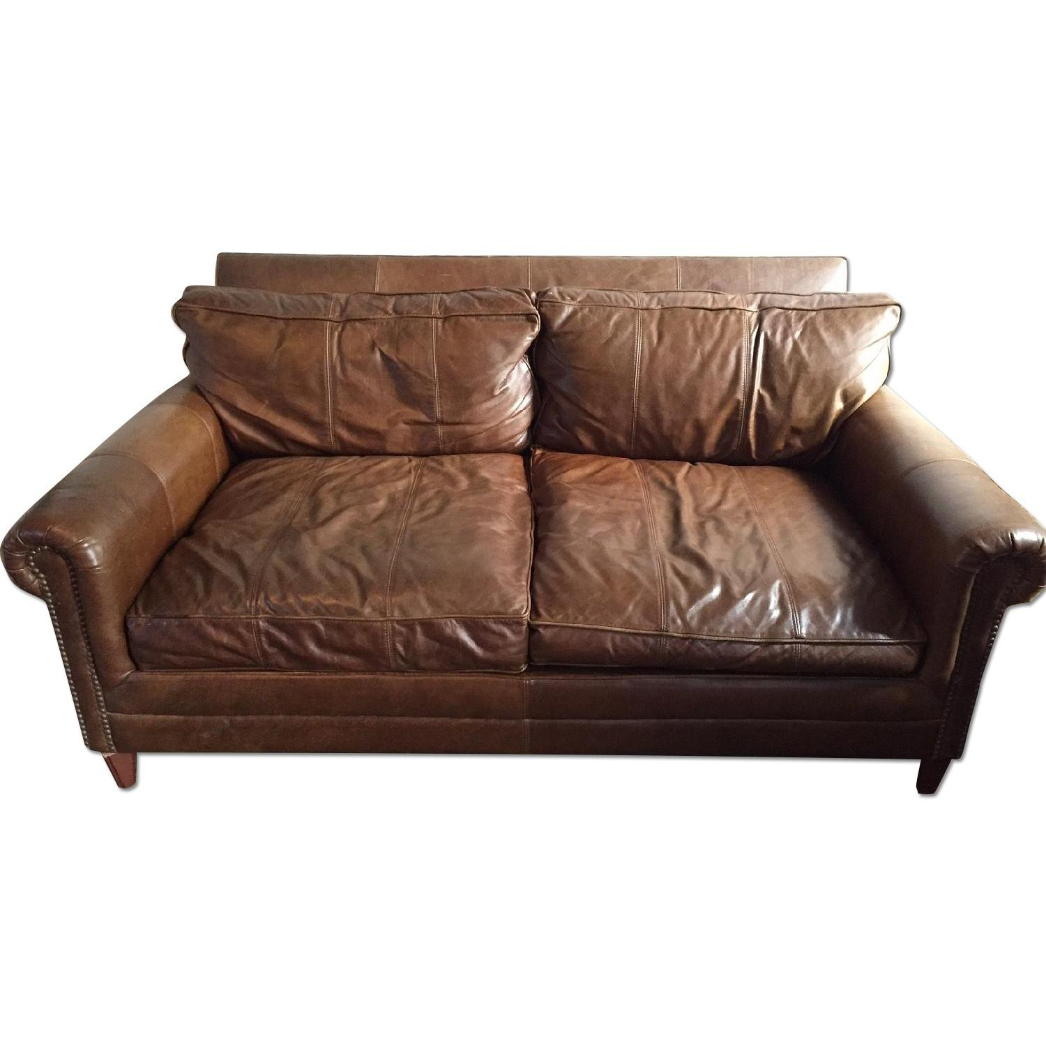 Bloomingdales Leather Loveseat Aptdeco .