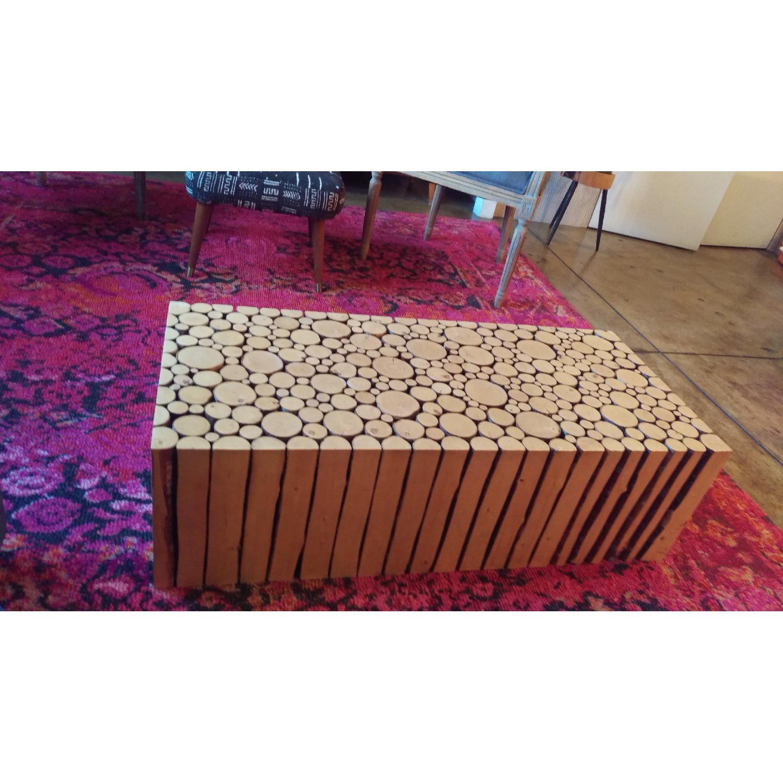 Brent ber Handmade Alder Rectangle Coffee Table AptDeco