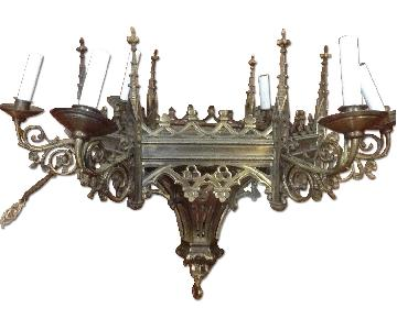Brass Gothic Chandelier