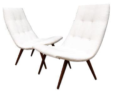 Thayer Coggin 1950's Allen Gould Eggshell Chair