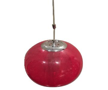 60's Style Red Pendant Lamp