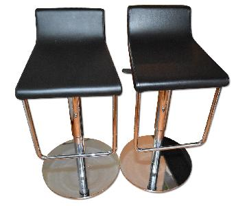Lazzoni Black Faux Leather High Chairs