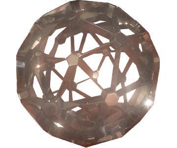 Polished Nickel Polyhedron Model