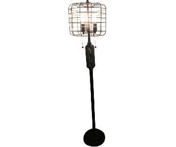 Industrial Cage High Metal Floor Lamp