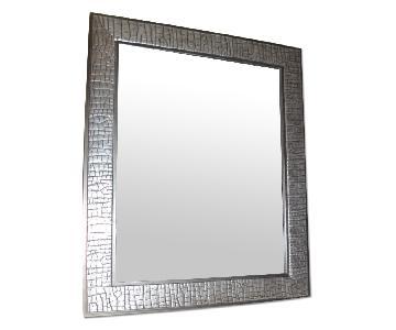 Modern Mirror in Metal Silver Frame