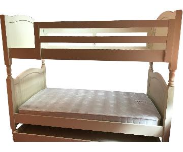 Pottery Barn Twin Over Twin Bunk Bed