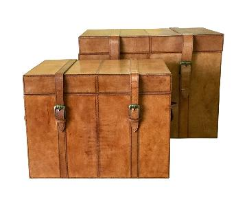 Leather Trunk Boxes