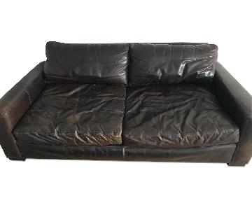Restoration Hardware Leather Sofa