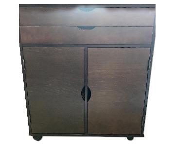 Espresso Wood Bar Cabinet