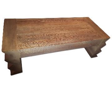 Vintage Reclaimed Wood Coffee Table