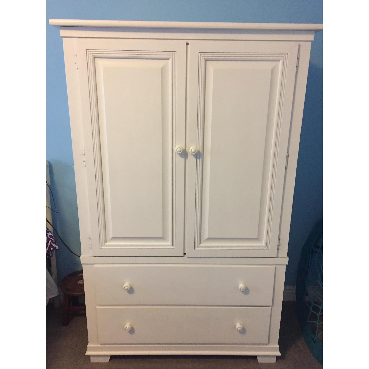 White Armoire Fabulous Baxton Studio Vittoria White Finish Wood