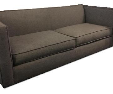CB2 Club Sofa in Denim Grey