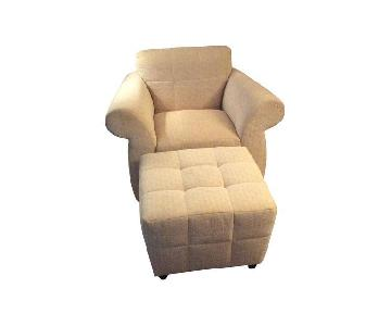 Kravet Chair & Ottoman