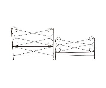 Restoration Hardware King Size Iron Bed Frame