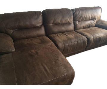Bob's 3 Piece Reclining Sectional Sofa