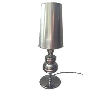 Tiffany Table Lamp in Silver