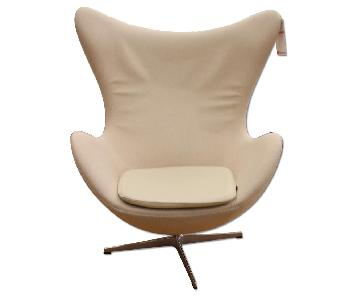 Ivory Bowl Craved Rapony Chair