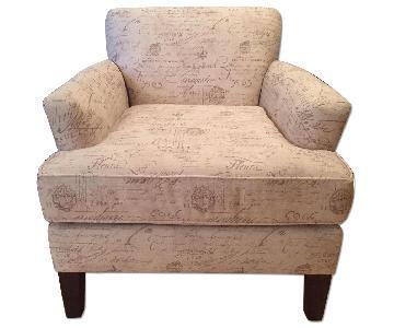 American Signature Furniture bvMarcus Chair w/ Seine Mocha Fabric by Kroehler