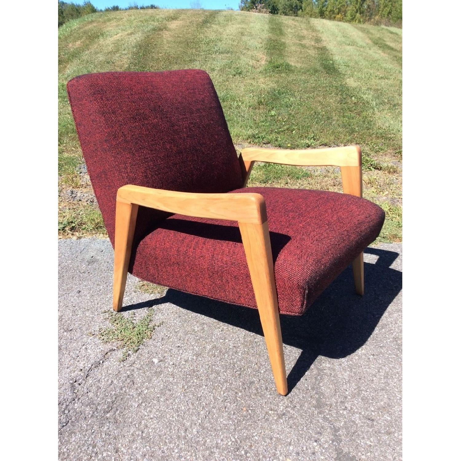 Russel Wright Conant Ball Birch Mid Century Modern Lounge Chair - image-1