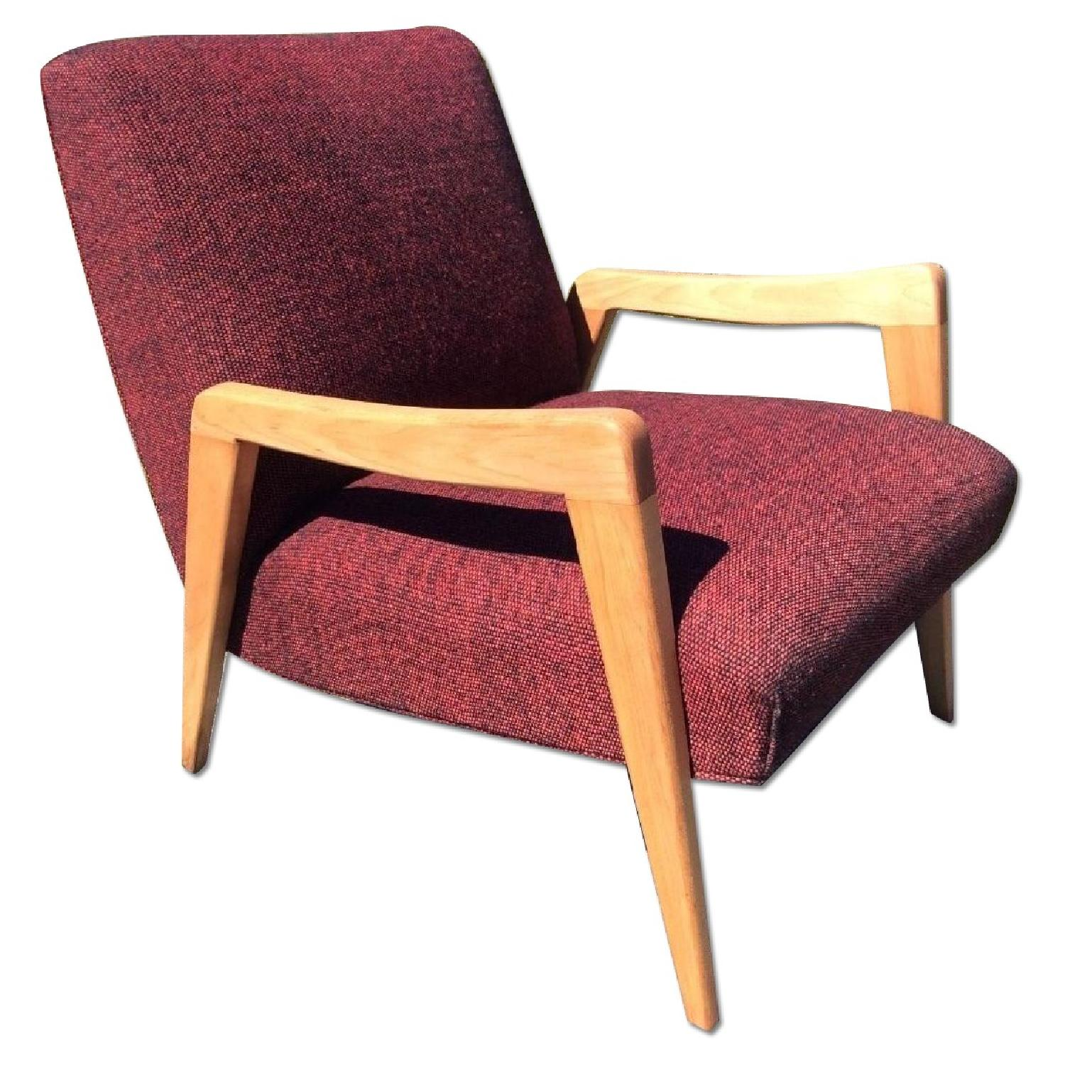 Russel Wright Conant Ball Birch Mid Century Modern Lounge Chair - image-0