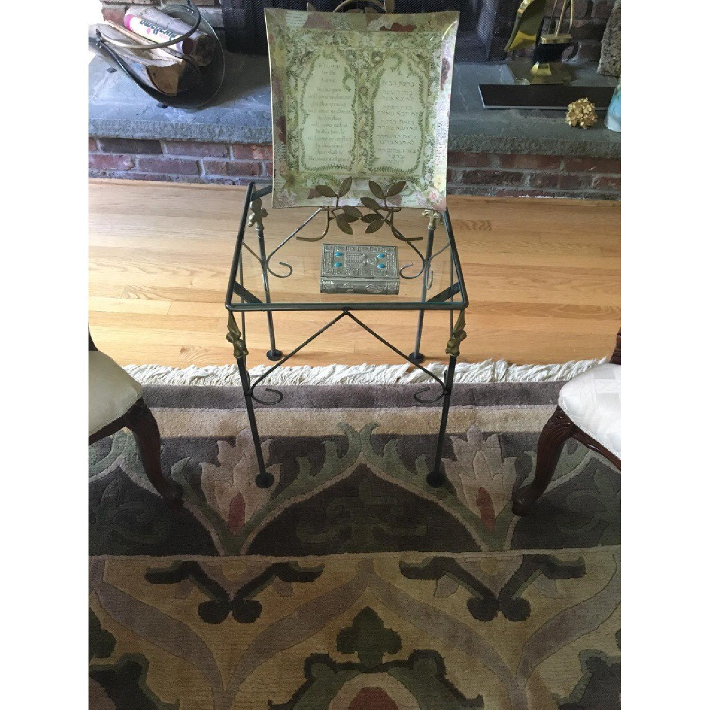George Jenson Glass & Metal Side Table - image-2