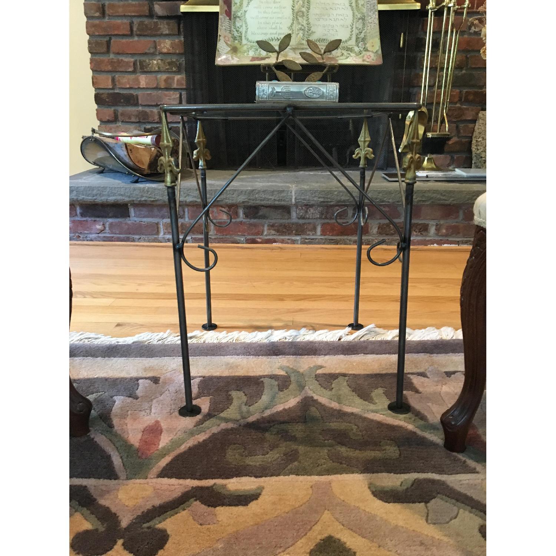 George Jenson Glass & Metal Side Table - image-3