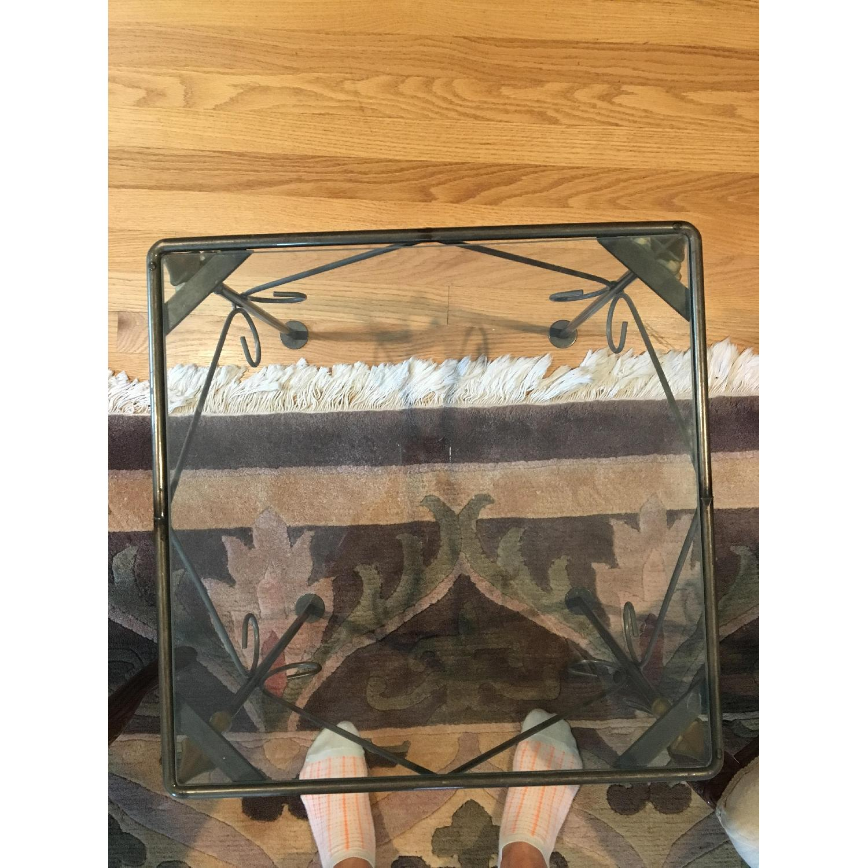 George Jenson Glass & Metal Side Table - image-4