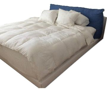 White Leather King Size Bed Frame
