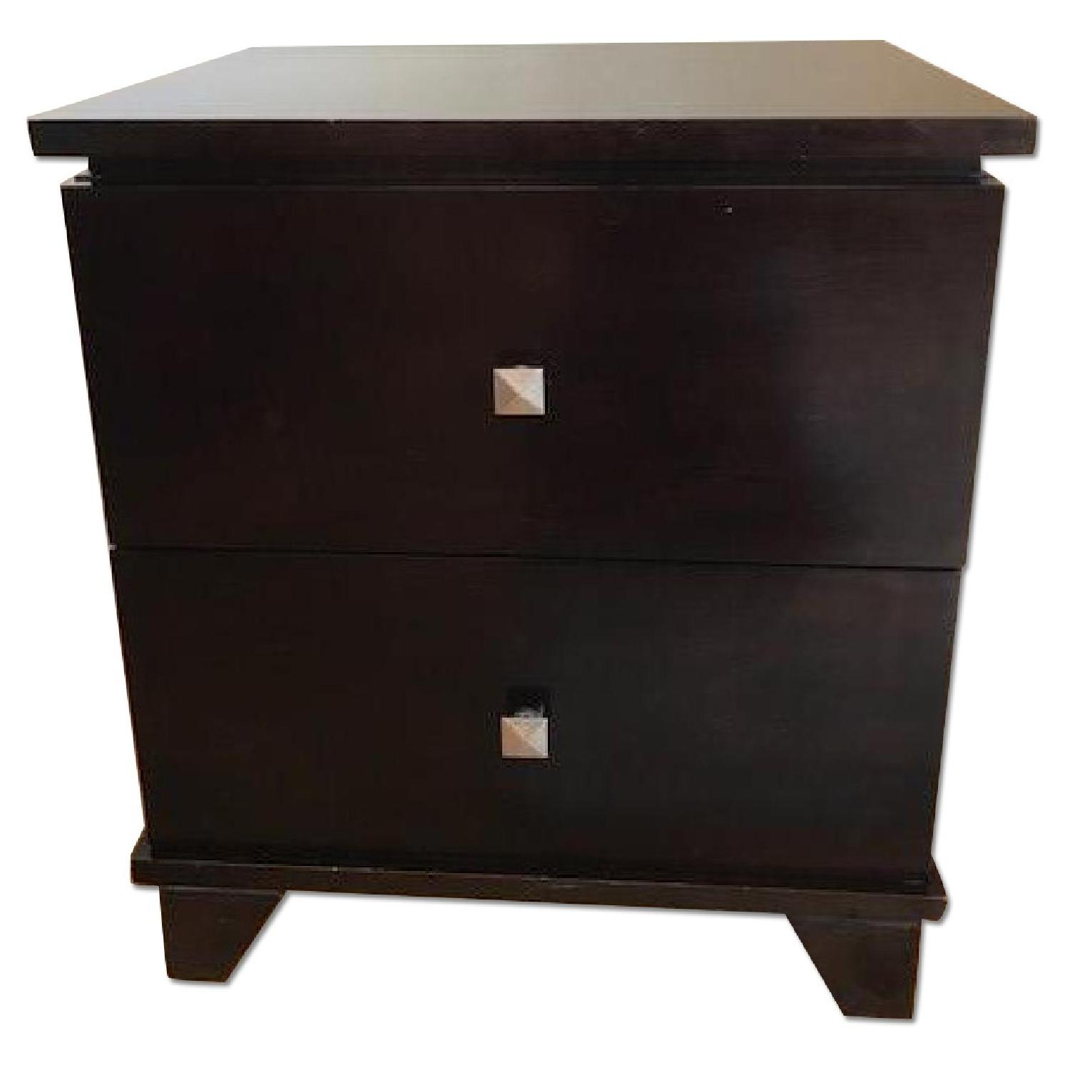 Ligna Furniture Two-Drawer Wooden Nightstands