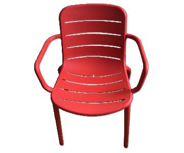 CB2 Armchair in Red