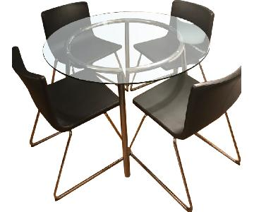 Ikea Dining Round Table w/ 4 Chairs