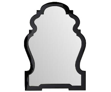 Queen Anne Black Lacquer Mirror