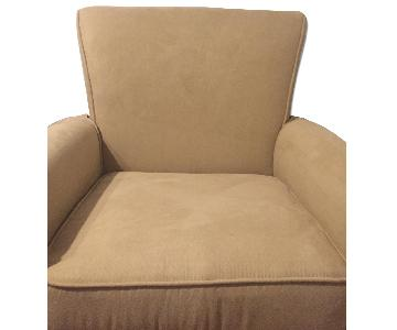 Simmons Bedding Co Swivel Glider Taupe Beige Chair