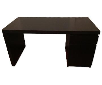 Ikea Malm Black Desk